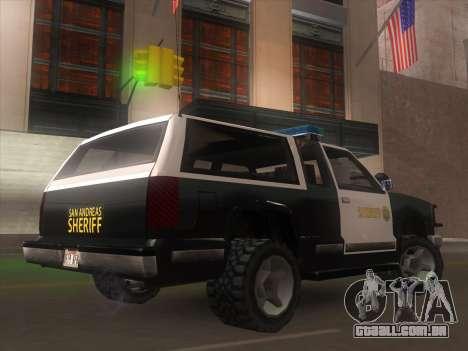 Yosemite Police 2015 para GTA San Andreas esquerda vista