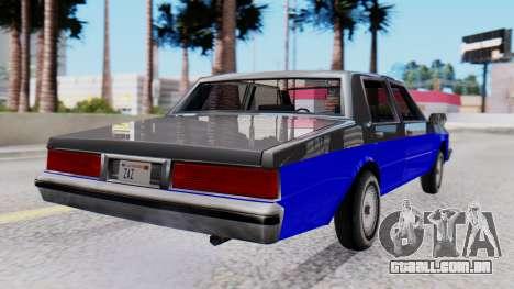 Chevrolet Caprice 1980 SA Style Civil para GTA San Andreas esquerda vista