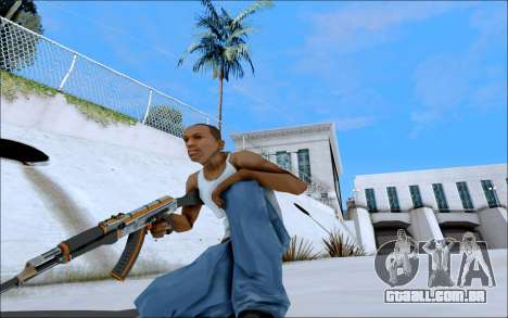 AK-47 Carbone Edition para GTA San Andreas por diante tela