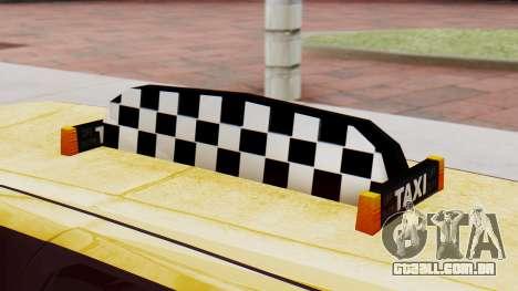 Landstalker Taxi SR 4 Style Flatshadow para GTA San Andreas vista direita