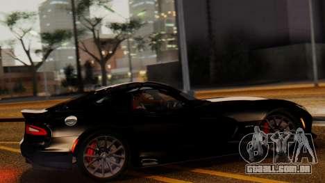 Dodge Viper SRT GTS 2013 IVF (MQ PJ) LQ Dirt para GTA San Andreas esquerda vista