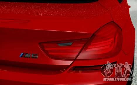 BMW M6 2013 v1.0 para GTA San Andreas vista inferior