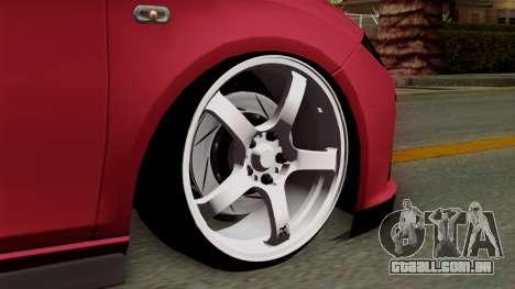 Seat Leon Cupra Static para GTA San Andreas traseira esquerda vista