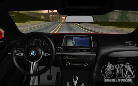 BMW M6 2013 v1.0 para GTA San Andreas traseira esquerda vista
