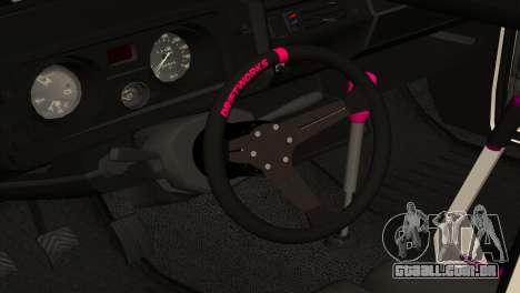VAZ 2105 BC v2.0 para GTA San Andreas vista interior
