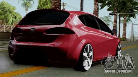 Seat Leon Cupra Static para GTA San Andreas esquerda vista