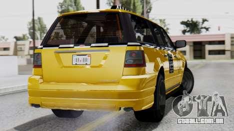 Vapid Landstalker Taxi SR 4 Style Flatshadow para GTA San Andreas esquerda vista