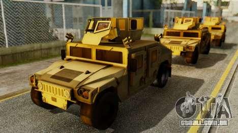 PR BF2 US Army UpArmored Humvee Armed with MK19 para GTA San Andreas