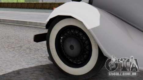 Smith V8 from Mafia 2 para GTA San Andreas traseira esquerda vista