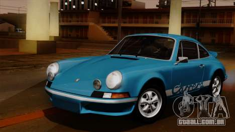 Porsche 911 Carrera RS 2.7 Sport (911) 1972 HQLM para GTA San Andreas vista interior