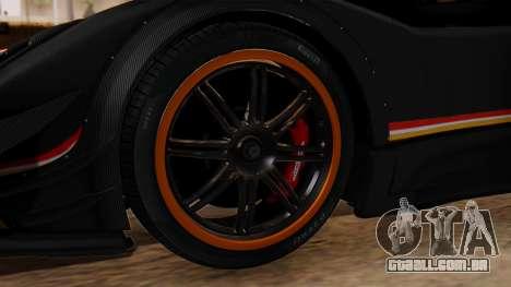 Pagani Zonda Revolucion 2015 para GTA San Andreas traseira esquerda vista