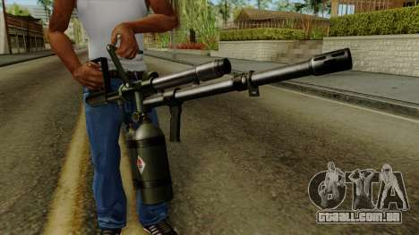 Original HD Flame Thrower para GTA San Andreas terceira tela
