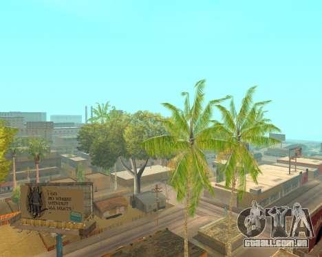 Palmeiras de Crysis para GTA San Andreas terceira tela