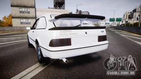 Ford Sierra RS500 Cosworth para GTA 4 traseira esquerda vista