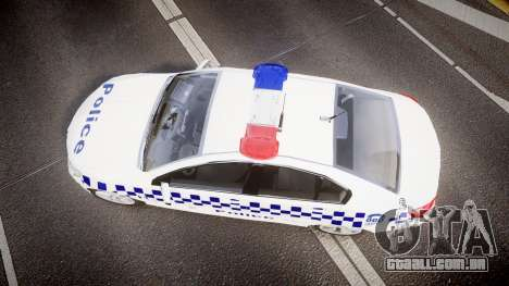 Holden VF Commodore SS NSW Police [ELS] para GTA 4 vista direita