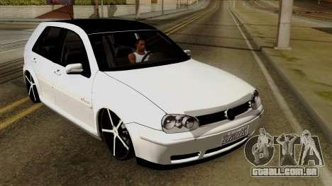 Volkswagen Golf 2004 Edit para GTA San Andreas vista interior