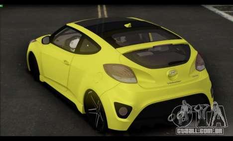 Hyundai Veloster 2012 para GTA San Andreas vista traseira