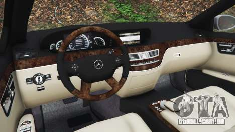 GTA 5 Mercedes-Benz S500 W221 v0.3 [Alpha] vista lateral direita