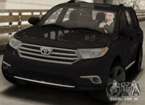 Toyota Highlander 2011 para GTA San Andreas vista interior