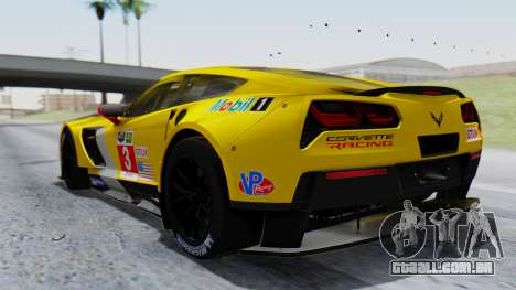 Chevrolet Corvette C7R GTE 2014 PJ1 para GTA San Andreas esquerda vista