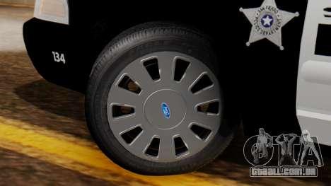 Police SF 2013 para GTA San Andreas traseira esquerda vista
