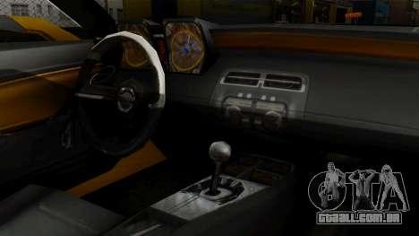 Chevrolet Camaro GT para GTA San Andreas vista direita