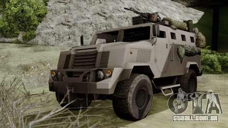 SPM-3 from Battlefiled 4 para GTA San Andreas