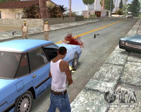 Blood Effects para GTA San Andreas por diante tela