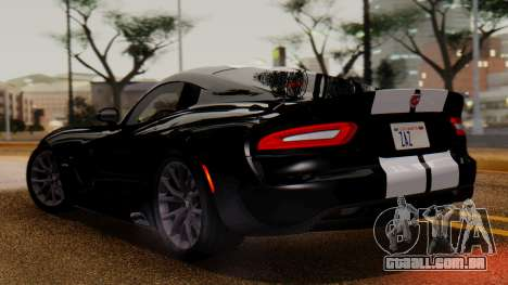 Dodge Viper SRT GTS 2013 IVF (MQ PJ) LQ Dirt para GTA San Andreas traseira esquerda vista