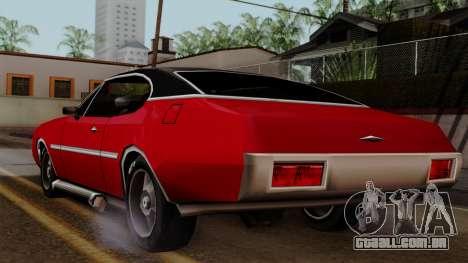 Muscle-Clover Beta v2 para GTA San Andreas traseira esquerda vista
