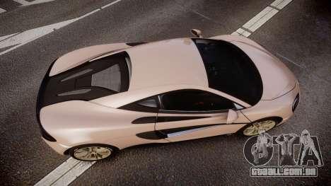 McLaren 570S 2015 rims1 para GTA 4 vista direita