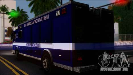 FDSA Hazardous Materials Squad Truck para GTA San Andreas esquerda vista
