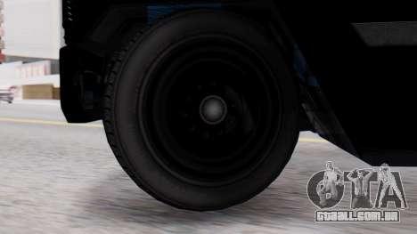 GTA 5 Enforcer Raccoon City Police Type 2 para GTA San Andreas traseira esquerda vista