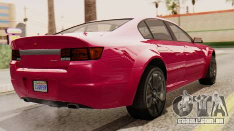 GTA 5 Cheval Fugitive para GTA San Andreas esquerda vista