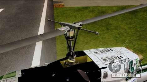 Bell UH-1N NAJA para GTA San Andreas vista traseira