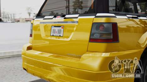 Vapid Landstalker Taxi SR 4 Style Flatshadow para GTA San Andreas vista direita