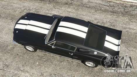 GTA 5 Ford Mustang GT500 1967 voltar vista