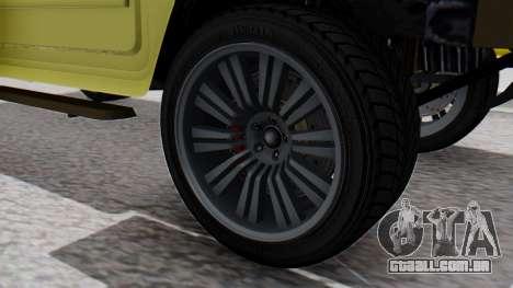 GTA 5 Patriot Dirt para GTA San Andreas traseira esquerda vista
