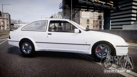 Ford Sierra RS500 Cosworth para GTA 4 esquerda vista