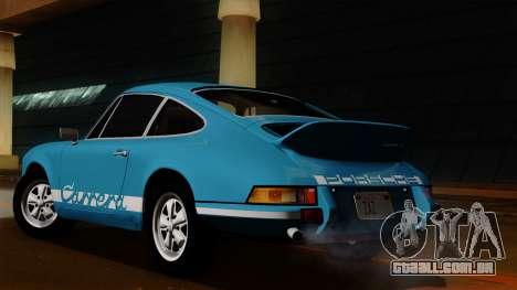 Porsche 911 Carrera RS 2.7 Sport (911) 1972 HQLM para GTA San Andreas vista traseira