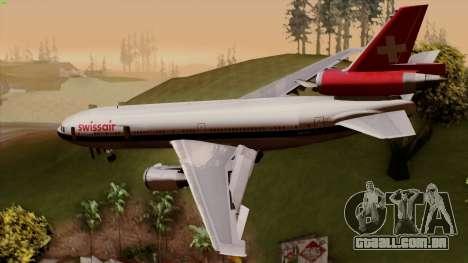 DC-10-30 Swissair para GTA San Andreas esquerda vista