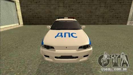 Nissan Skyline R32 Russian Police para GTA San Andreas vista direita