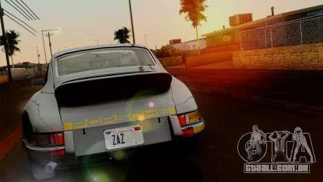 Porsche 911 Carrera RS 2.7 Sport (911) 1972 HQLM para GTA San Andreas traseira esquerda vista