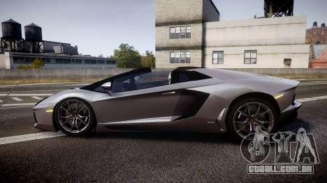 Lamborghini Aventador Roadster para GTA 4 esquerda vista