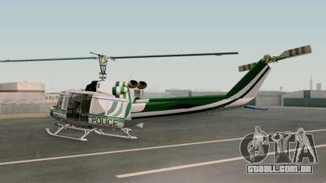 Bell UH-1N NAJA para GTA San Andreas esquerda vista