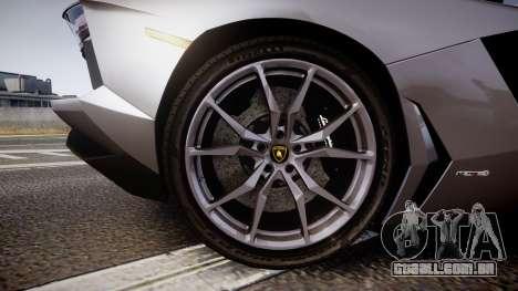 Lamborghini Aventador Roadster para GTA 4 vista de volta