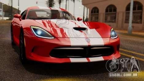 Dodge Viper SRT GTS 2013 IVF (MQ PJ) LQ Dirt para GTA San Andreas vista direita
