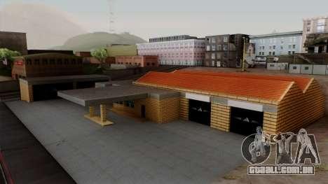 Novas texturas da antiga garagem em Doherty para GTA San Andreas