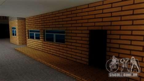 Novas texturas da antiga garagem em Doherty para GTA San Andreas por diante tela