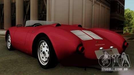 Porsche 550A Spyder 1956 para GTA San Andreas esquerda vista